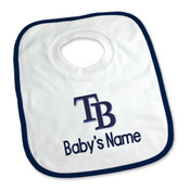 Tampa Bay Rays Personalized Pullover Baby Bib
