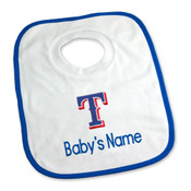 Texas Rangers Personalized Pullover Baby Bib