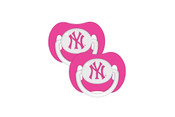 NY Yankees Pink Pacifier 2 Pack