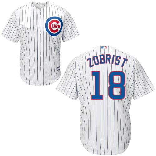 Ben Zobrist Jersey - Chicago Cubs Replica Adult Home Jersey photo
