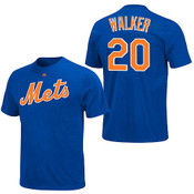 Neil Walker T-Shirt - Blue NY Mets Adult T-Shirt