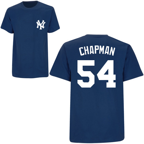 on sale 8351d bd06b Aroldis Chapman T-Shirt - Navy NY Yankees Adult T-Shirt