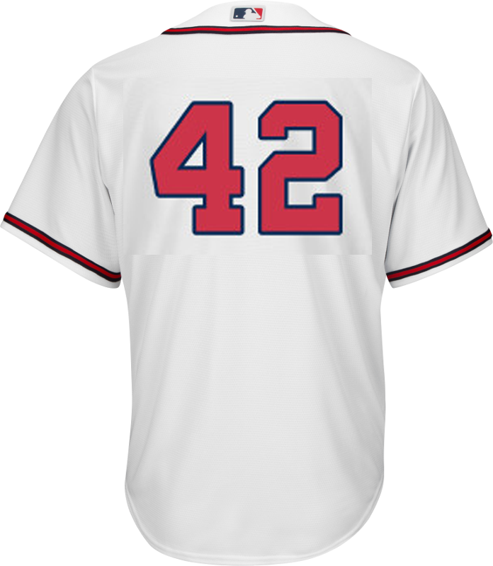 buy popular 6f88c b6585 Jackie Robinson Day 42 Jersey - Atlanta Braves Replica Adult Home Jersey
