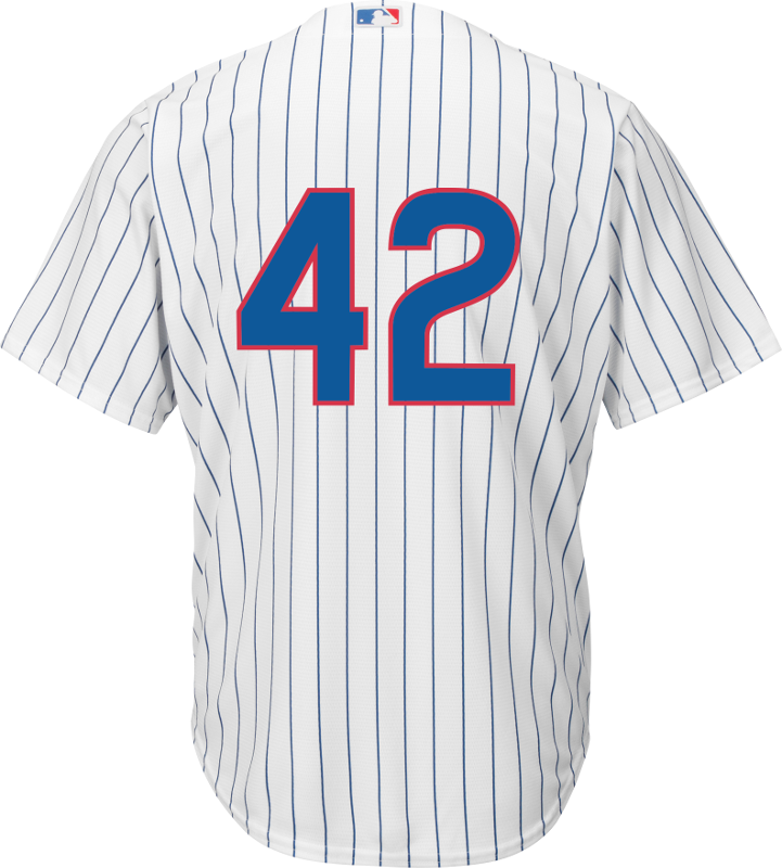 low priced 5bd32 7cb36 Jackie Robinson Day 42 Jersey - Chicago Cubs Replica Adult Home Jersey