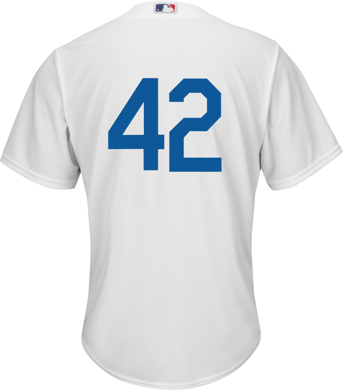 Jackie Robinson Day 42 Jersey - LA Dodgers Replica Adult Home Jersey Photo.  Loading zoom 44ed1bfae5b