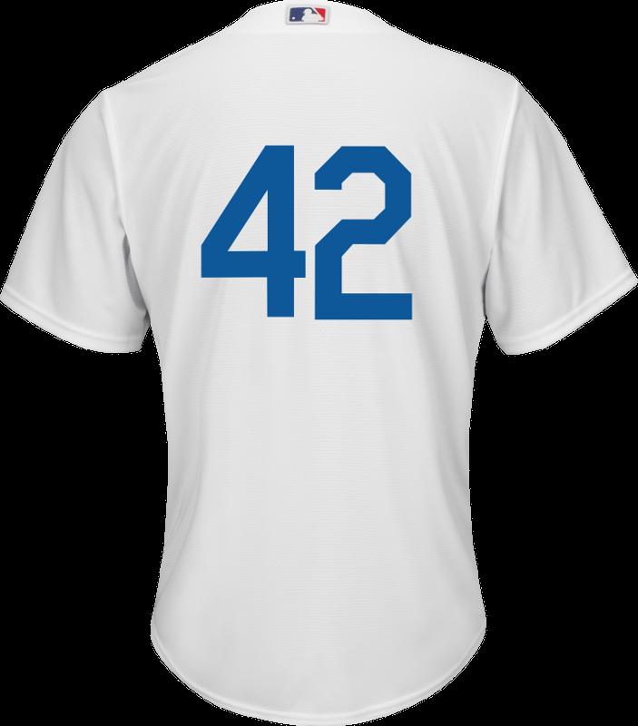68410fda6 Jackie Robinson Day 42 Youth Jersey - LA Dodgers Replica Kids Home Jersey  Photo. Loading zoom