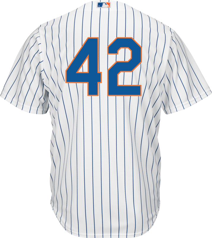 Jackie Robinson Day 42 Jersey - NY Mets Replica Adult Home Jersey photo