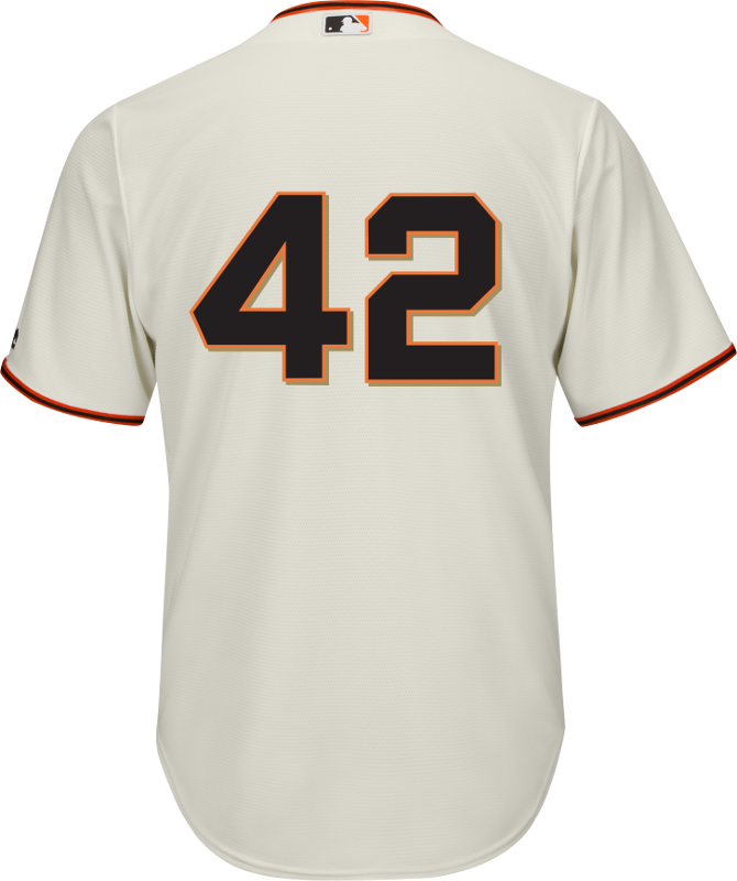 new arrival 96152 f4500 Jackie Robinson Day 42 Jersey - San Francisco Giants Replica Adult Home  Jersey