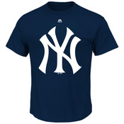 New York Yankees Majestic Official Logo Adult T-Shirt