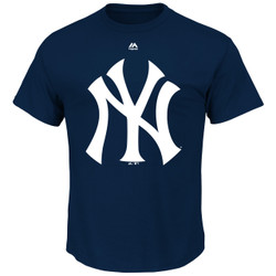 New York Yankees Majestic Official Logo Adult T Shirt