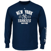 New York Yankees Majestic Flawless Victory Long Sleeve Adult T-Shirt