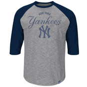 New York Yankees Majestic Fast Win 3/4 Sleeve Adult T-Shirt