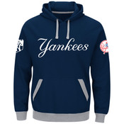 New York Yankees Majestic Third Wind Hooded Adult Sweatshirt