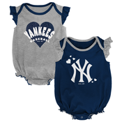 Yankees Navy Sparkle Creepers 2-PC Set