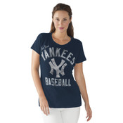 New York Yankees Major League Scoopneck Ladies T-Shirt
