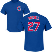 Addison Russel T-Shirt - Blue Chicago Cubs Adult T-Shirt
