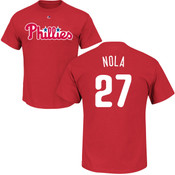 Aaron Nola T-Shirt - Red Philadelphia Phillies Adult T-Shirt