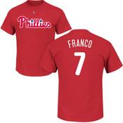 Maikel Franco T-Shirt - Red Philadelphia Phillies Adult T-Shirt