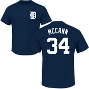 James McCann T-Shirt - Navy Detroit Tigers Adult T-Shirt