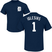 Jose Iglesias T-Shirt - Navy Detroit Tigers Adult T-Shirt