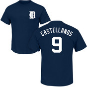 Nick Castellanos T-Shirt - Navy Detroit Tigers Adult T-Shirt