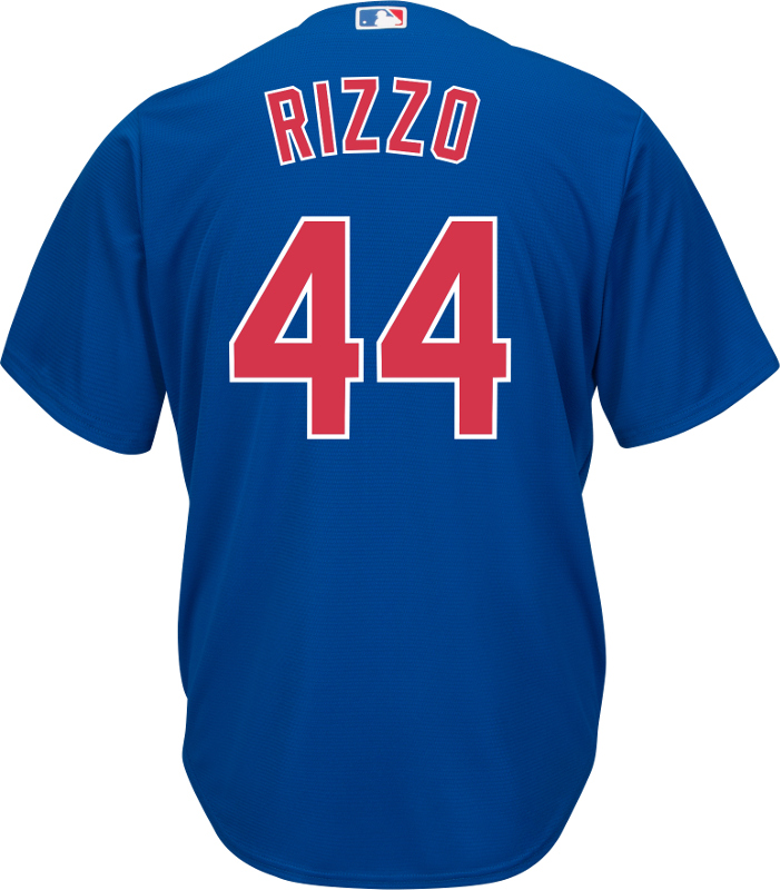 sports shoes 9e6f8 cb890 Anthony Rizzo Jersey - Chicago Cubs Replica Adult Royal Blue Jersey