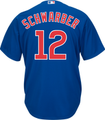 Kyle Schwarber Jersey - Chicago Cubs Replica Adult Royal Blue Jersey