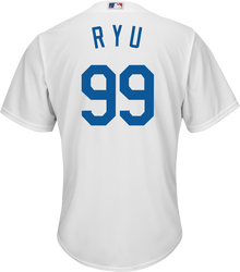 Hyun-Jin Ryu Jersey - LA Dodgers Replica Adult Home Jersey Photo