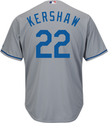 Clayton Kershaw Jersey - LA Dodgers Replica Adult Road Jersey