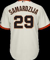 Jeff Samardzija Jersey - San Francisco Giants Replica Adult Home Jersey Photo
