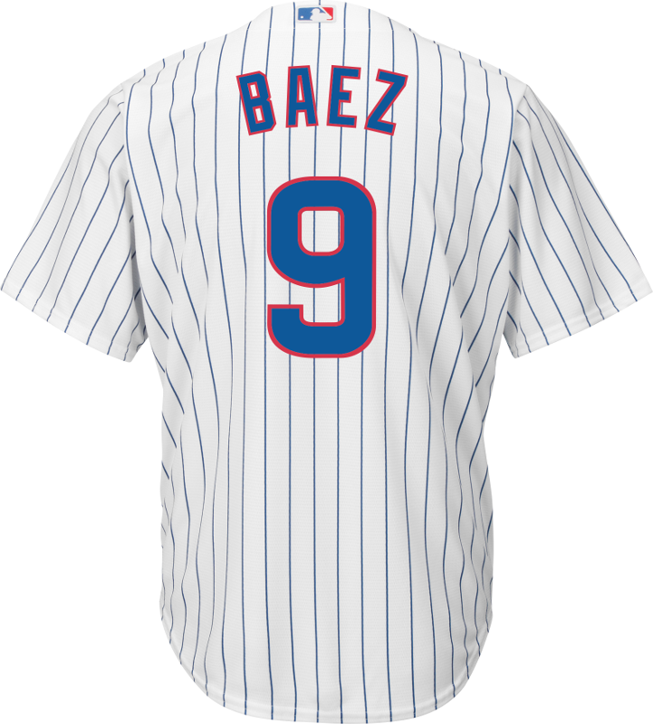 Javier Baez Youth Jersey - Chicago Cubs Replica Kids Home Jersey Photo.  Loading zoom ca4b835ff