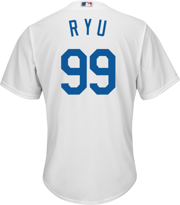 Hyun-Jin Ryu Youth Jersey - LA Dodgers Replica Kids Home Jersey Photo 9e4e4407825