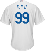 Hyun-Jin Ryu Youth Jersey - LA Dodgers Replica Kids Home Jersey