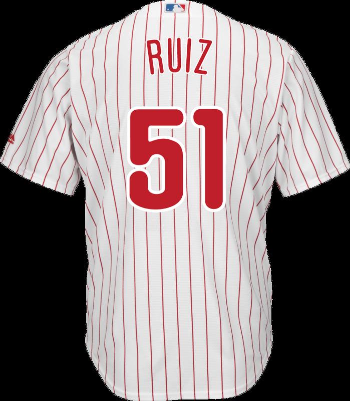 c893a19ea Carlos Ruiz Youth Jersey - Philadelphia Phillies Replica Kids Home Jersey  Photo. Loading zoom