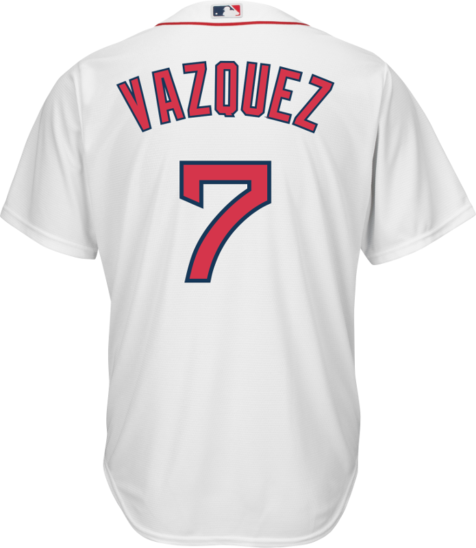 Christian Vazquez Youth Jersey - Boston Red Sox Replica Kids Home Jersey  Photo. Loading zoom 6662f661b49