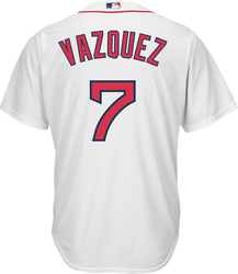 Christian Vazquez Youth Jersey - Boston Red Sox Replica Kids Home Jersey Photo
