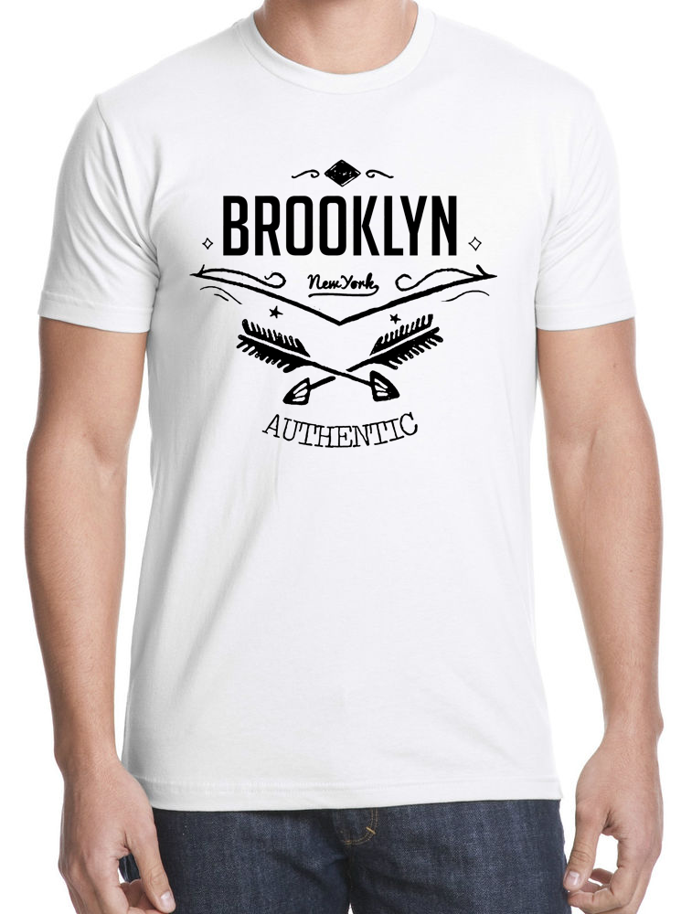 Brooklyn Authentic T-shirt -White photo