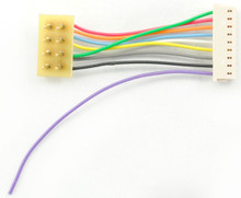 "TCS 1359 1"" Harness 9 pin JST to 8 pin NMRA plug - 1"" wires"