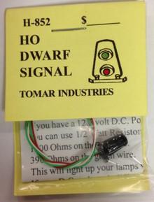 TOMAR H-852 HO Dwarf Signal Red & Green LED's