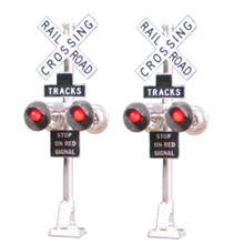 TOMAR H-862 HO Grade Crossing Signal with LED's