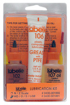 Labelle 1001 Complete Kit: 102 Gear Lube 106 Grease 107 Med. Oil
