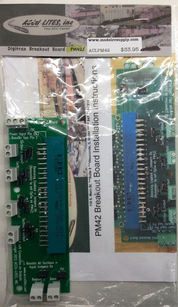 ACCU-LITES PM42 Breakout Board for Digitrax PM42 - Mountain ...