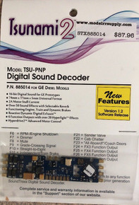 SOUNDTRAXX 885014 Tsunami2 TSU-PNP GE Diesel Locomotives Sound Decoder - NEW Version 1.2