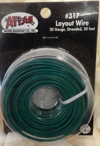 Atlas 317 Layout Wire 20 Gauge 50 Feet Stranded Copper #20 GREEN