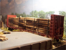 Osborn Models 1070 HO Lumber Load for flatcar Laser Cut wood kit