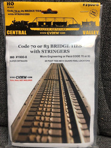 CENTRAL VALLEY 1900-8 HO CVT Bridge Ties with Stringers 70/83