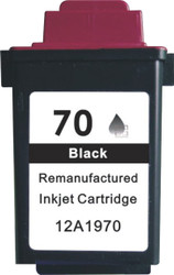 Remanufactured Lexmark 12A1970 (70) Black Ink Cartridge