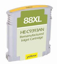 Remanufactured Hewlett Packard C9393AN (HP 88XL Yellow) Hi-Yield Ink