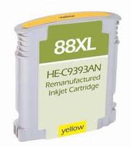 Remanufactured Hewlett Packard C9393AN (HP 88XL Yellow) Hi-Yield Ink