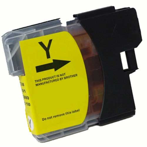 Compatible Brother LC61Y yellow ink cartridges are made to meet the same ISO-9001 specifications and performance standards as the factory brand at a discount price!